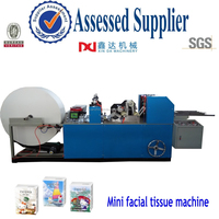Automatic counting embossed folding pocket tissue hanky paper machine