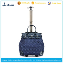 High quality fashion trolley handbag tote travel duffel rolling bags for ladies