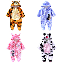Infant Newborn Baby Boy Girls Winter Lovely Animal Costume Long Sleeve Hoodies Romper