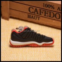 Cheap new design air jordan 11 shoes design sneaker 2d flat keychain