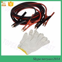 Auto 4 Gauge x 20 Ft Heavy Duty Booster Jumper Cable with Travel Bag and Safety Gloves (4 AWG x 20 Feet)