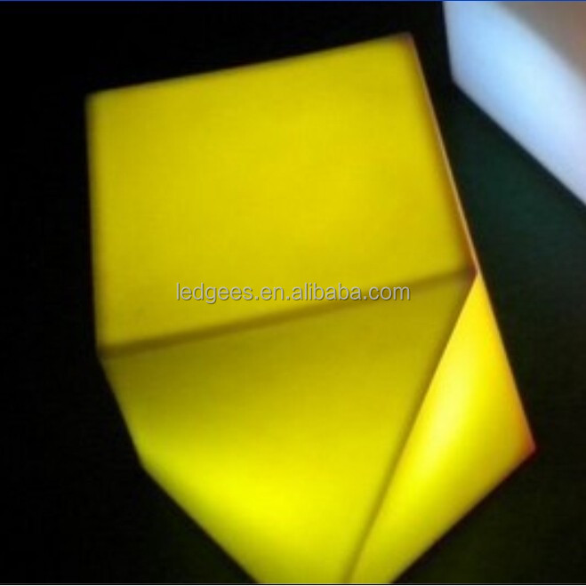 led outdoor light cube/rgb led cube/led battery powered cube light
