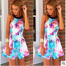Tank Sleeveless Floral Print Cotton Blend Sexy Girls without Any Dress