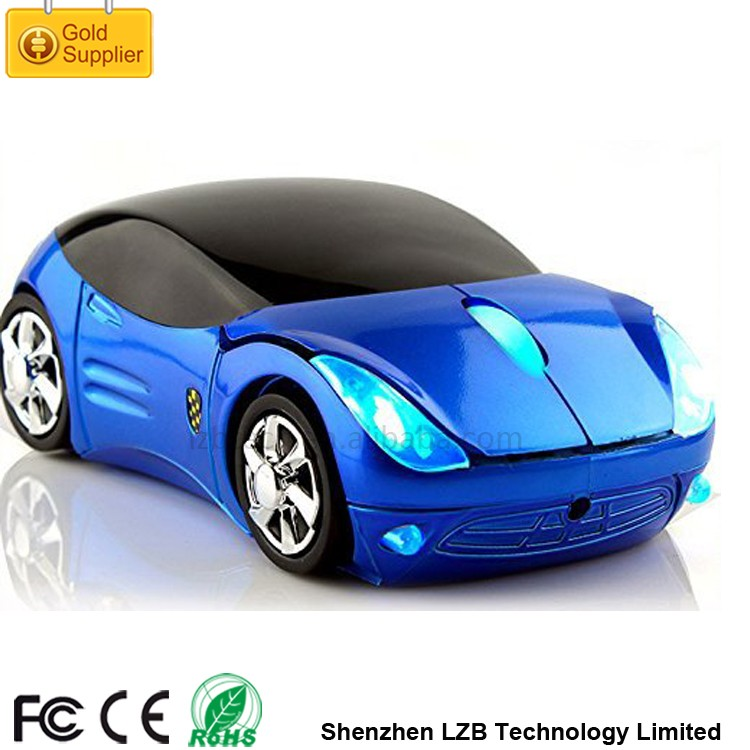 Hot Sale Christmas Promotional Gift Ferrary 3D Optical Mouse Computer Cordless High-tech Wireless Mouse