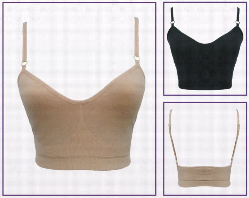 Girl body seamless bra top liner. Girl undergarment