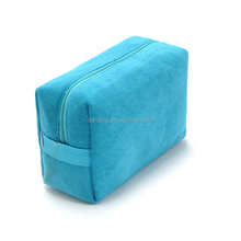 Custom eco small beauty felt cosmetic bag no minimum order