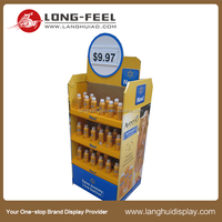 body care cardboard display manufactures, body care retail display rack,body care supermarket promotion table
