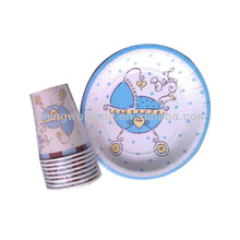 babyshower party paper cup paper tray disposable dinner set tableware