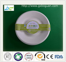 Sugarcane bagasse raw materials compostable plates disposable paper products