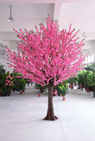 SGS standard factory ,big artificial pink flowers artificial plant and tree export hot selling