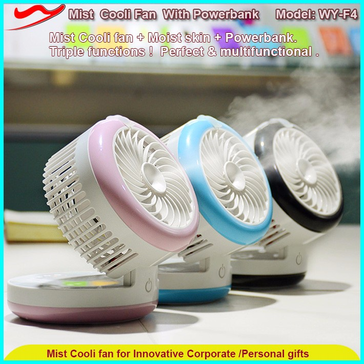 Electric motor rechargeable usb water mist ice portable cooling fan