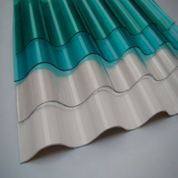 Roofing material Clear plastic Hothouse garden polycarbonate corrugated clear roofing sheets price made in China