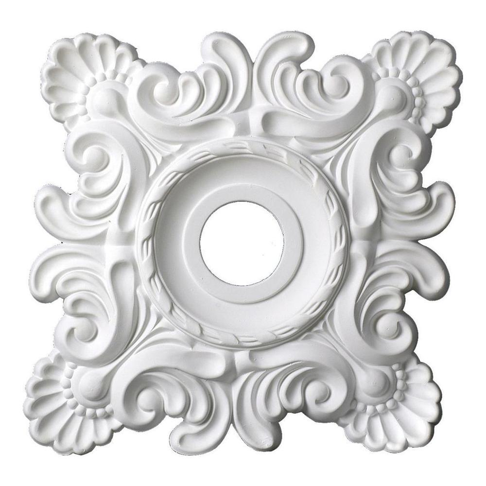 Hot Selling Products Architectural Interior Decoration 18 PU Square Ceiling Medallion For Modern House Design