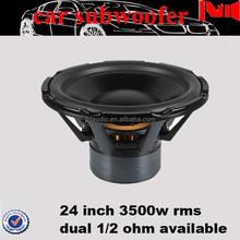 "24inch big car subwoofer with 760 Oz magnet 5"" voice coil 3500w rms powered speaker subwoofer"