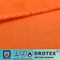 80% Cotton 20% Polyester 290GSM Twill 2/1 Flame Retardant Antistatic Fabric with Low Formaldehyde
