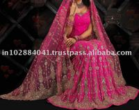 Designer Beaded Hand Embroided Bridal Lehenga/Lengha ~ Wedding Lehengas Choli ~ Bollywood Ghagra