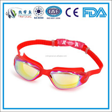 Adult swimming goggles with stylish design , triathlon swimming goggle , Red women swimming goggles