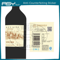 Customized NFC anti-forgery label for red wine
