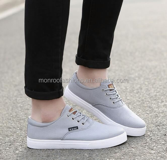 monroo new design wholesale casual shoe sneakers men canvas sport shoes brand name running shoes