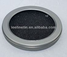 round tin box with clear top for CD/DVD/VCD