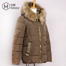 Ladies Clothing 2018 OEM Style Fur Hood Down Women Winter Jacket