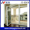 CE certificate insulate/tempered glass no deformation PVDF coat thermal break &normal swing aluminium doors and windows designs
