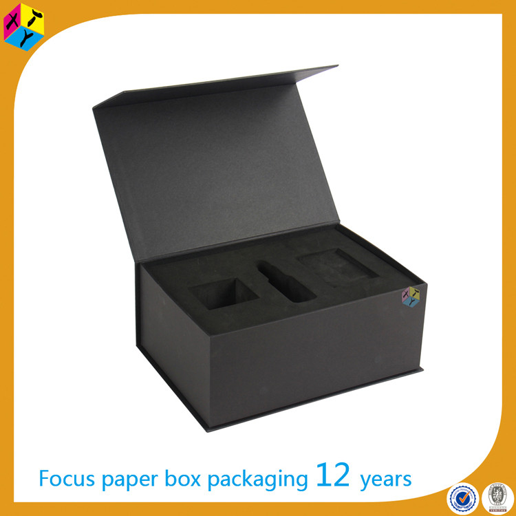 black custom cardboard package design box