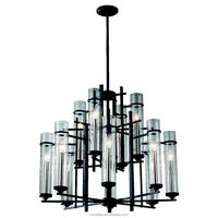 Excellent Crafts Chandelier Lighting Antique Candle Edison Lights and Hand Blown Sleek Sparkling Glass Surrounds