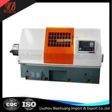 CNC pipe thread lathe machine with four-position electric turret