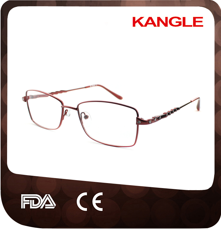 Low price cheap Economic basic line Lady metal optical frames / metal eyeglasses