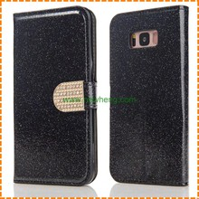 Luxury Magnetic Glitter Bling Crystal Diamond Leather Wallet Card Slot Case for samsung galaxy S8 Plus