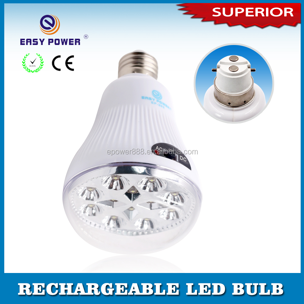 Low price rechargeable automatic high power 220V AC DC LED saving bulb