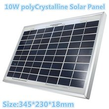 High performance portable poly solar panel 10w for home use and camping