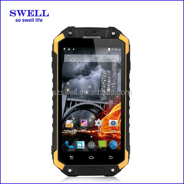 rugged SWELL X8S handheld rfid water resistant anroid phone quad core cell phone tracker with walkie-talkie
