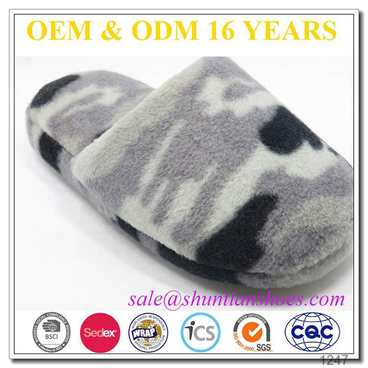 New fashion child camo soft indoor slipper