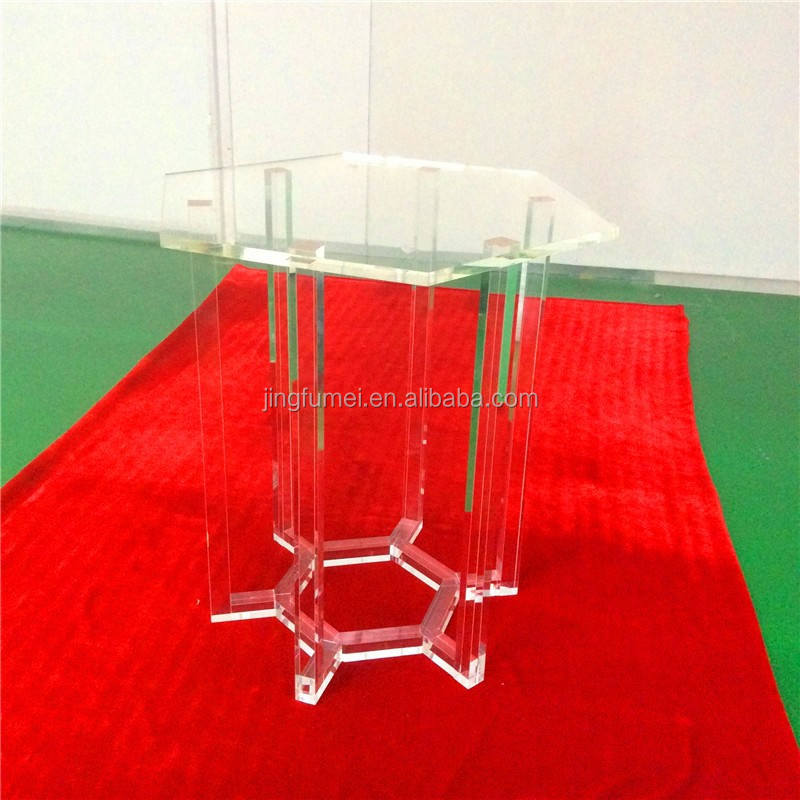 Transparent <strong>Bar</strong> Furniture acrylic Table lucent teak tractor solid