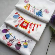 Hot sale embroidery sanitary napkin machine, high quality cotton table placemat