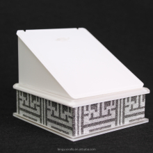 marble earring holder, marble earring display rack, white acrylic earring display marble for showcase and counter