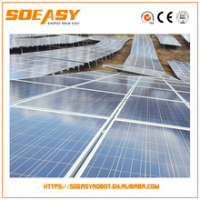 2017Hot sale solar mount pv support with solar power generator and solar panel cleaning system