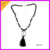 CN81741 Fashion womens crystal stone and black crystal beads tassels popular chain necklace