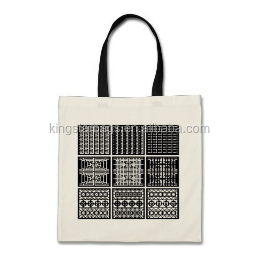 Black white minimal square cubic art shopping tote bag
