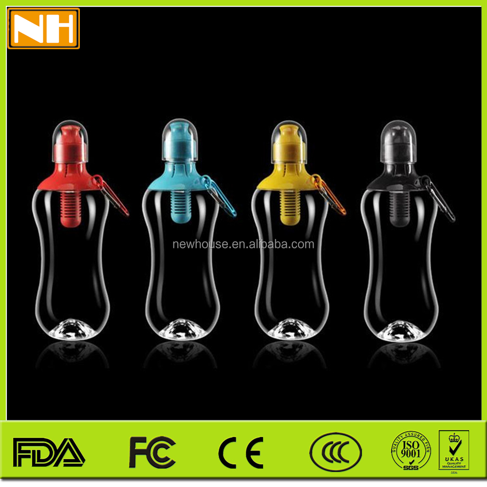 Hot selling 2015 New design Color Sports water bottle filter PE water bottle