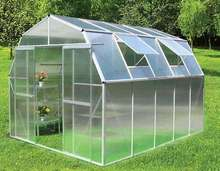 Galvanized steel pipe Frame Material and Garden Greenhouses Type commercial hydroponics greenhouse with 10mm polycarbonate sheet