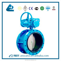 Flanged Double Eccentric Butterfly Valve with gearbox and handwheel