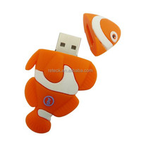 animal shape Rubber whale usb flash drive