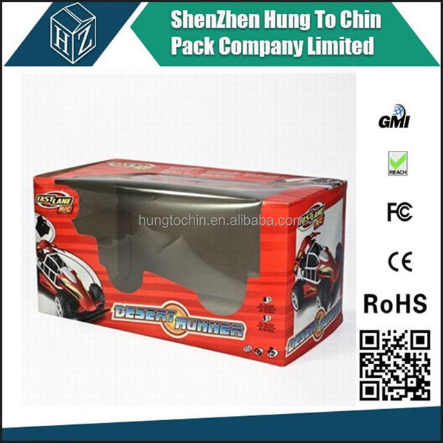 China experienced Clear window corrugated / flute carton toy box
