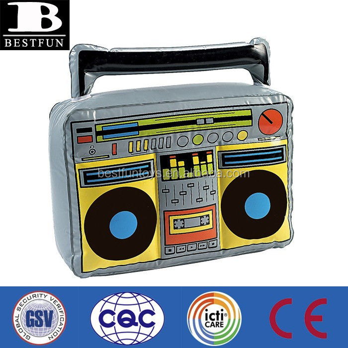 promotional big inflatable boom box pvc radio box toys model advertising