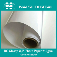 240g resin coated waterproof glossy photo paper for inkjet printer