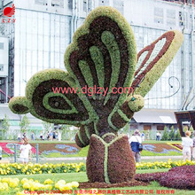 Outdoor OEM artificial boxwood topiary milan animated sculpture for park decoration