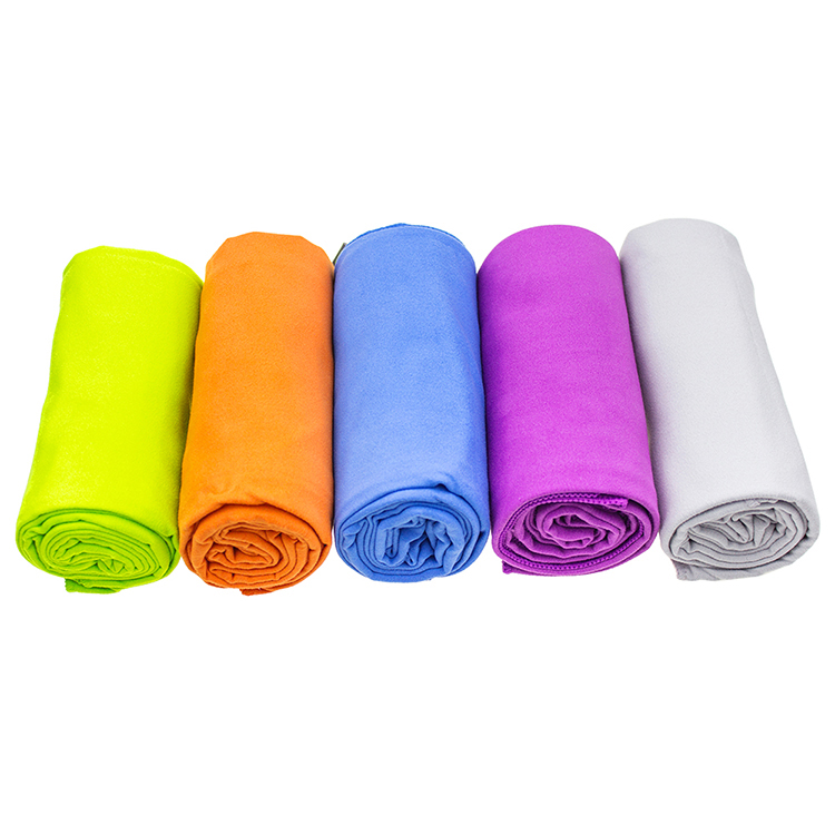 Microfiber Wholesale Sports Towel Gym Towel With Zip Pocket